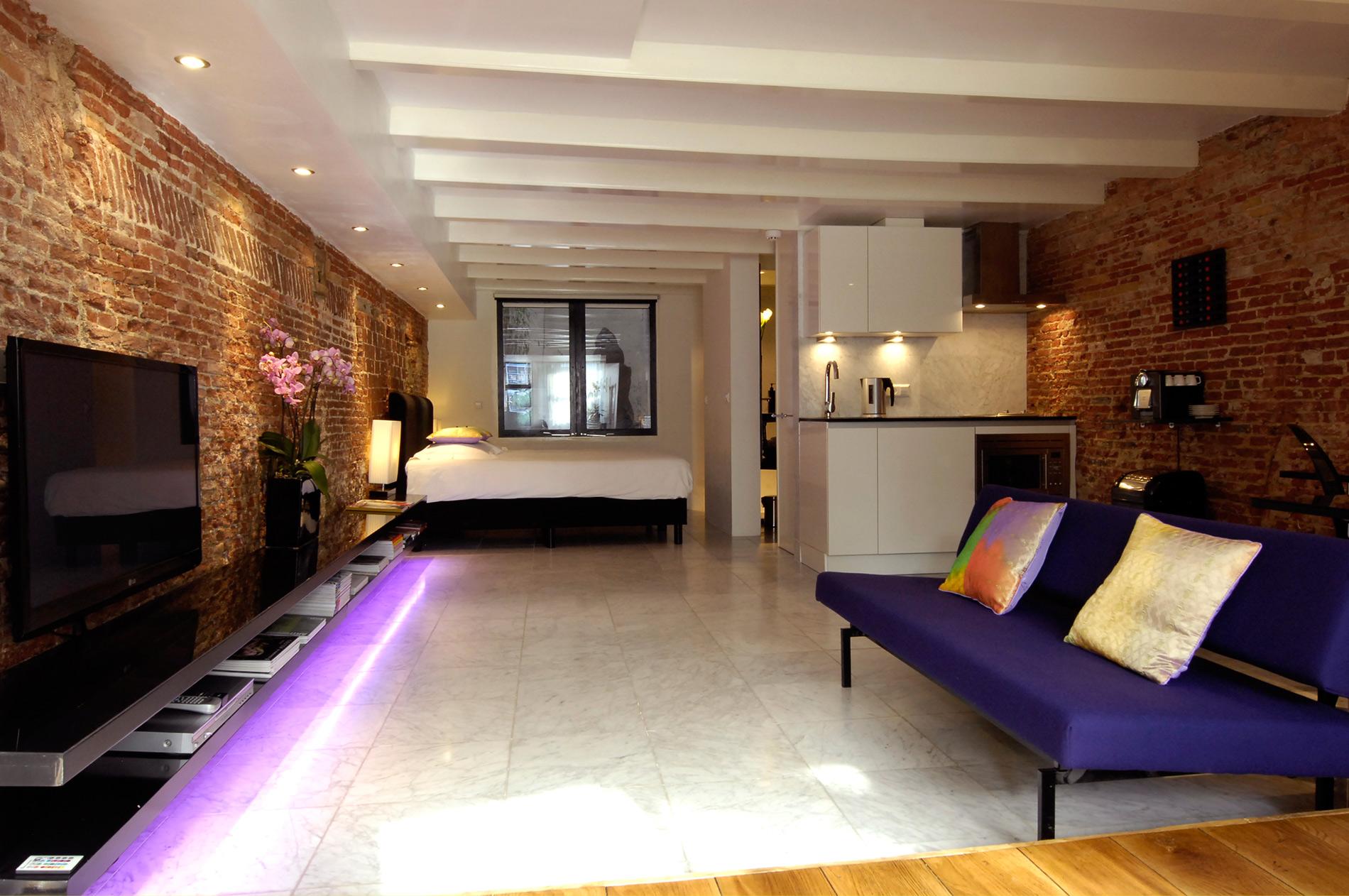 appartamento nel centro di amsterdam dal design tutto